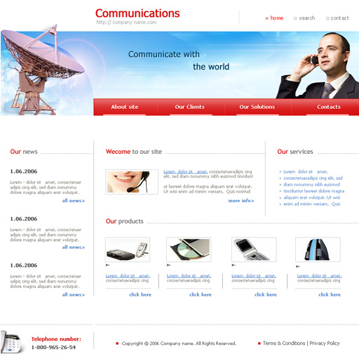 Amazing Telecom Website Templates Composition - Resume Ideas ...