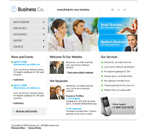 B2b business website template 00204 features download now adobe photoshop preview wajeb Images