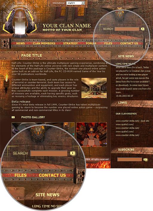 Website Template #00316 Features  Download now : eSitesBuilder com